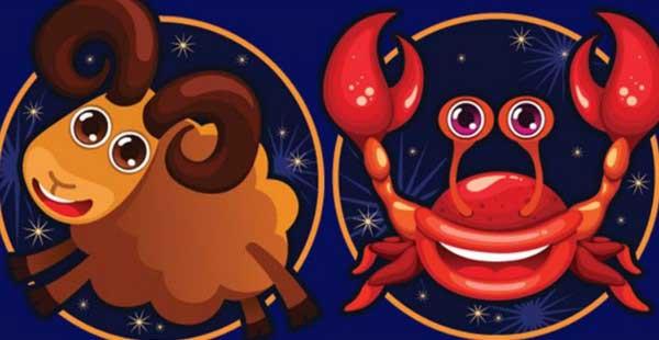 Совместимость Овна и Рака по гороскопу